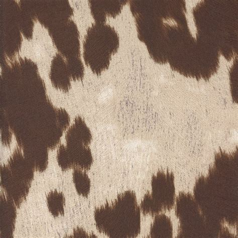 Cowhide Upholstery Fabric by Udder Madness Milk Brown Sw49575 Fashion Fabrics
