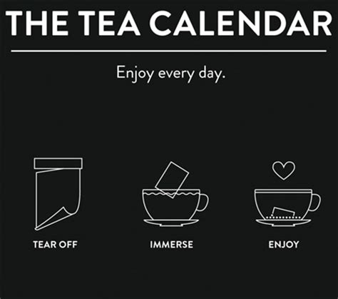 Tea Calendar Tea Calendar