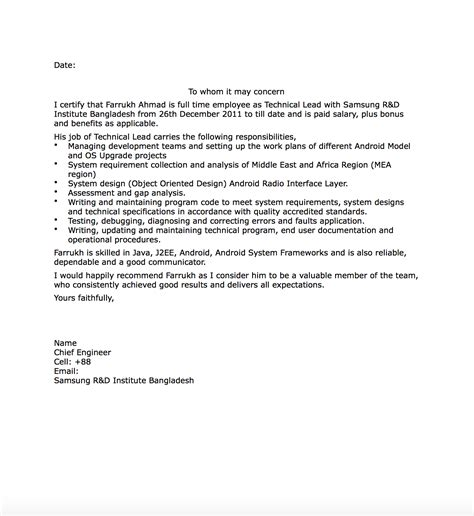 Work Experience Letter For Visa experience letter for canada immigration cover