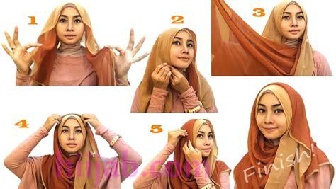 memakai hijab pashmina  menggunakan ciput ninja
