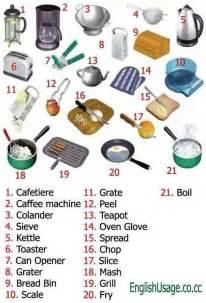 Kitchen tools english and english vocabulary on pinterest