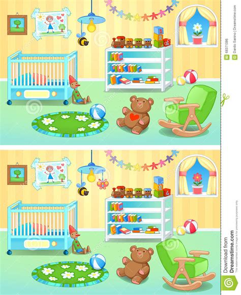 Child Chandelier Spot The Differences Stock Vector Image 68371086