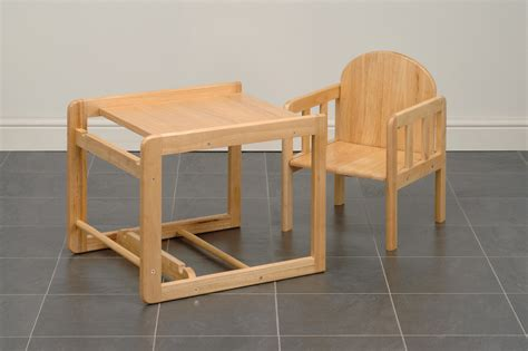 high chair and table combination