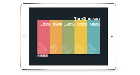 v card template free personal vcard one page template gt3 themes