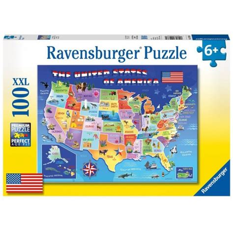 usa map jigsaw level one usa state map 100 pc jigsaw puzzle educational toys planet