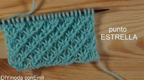 puntos de crochet estrella c 243 mo tejer punto estrella a dos agujas paso a paso youtube