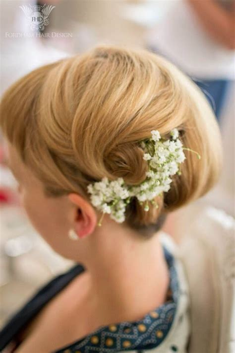 wedding hair with gypsophila hair gypsophila up do bridesmaid wedding hair