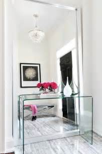Contemporary Entryway Table Lucite Console Table Contemporary Entrance Foyer Buchman Photo