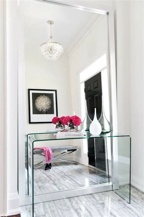 Contemporary Entryway Table Lucite Console Table Contemporary Entrance Foyer Stephani Buchman