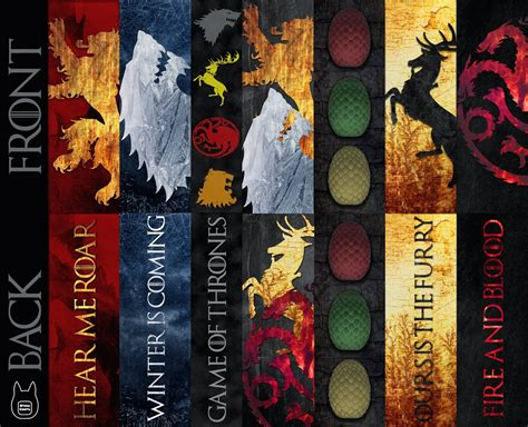 Printable Bookmarks Game Of Thrones | otaku crafts game of thrones bookmarks