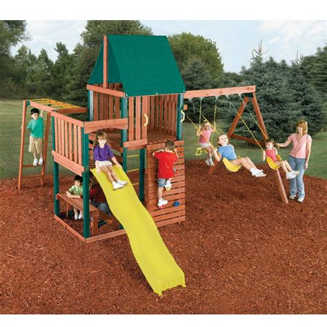 monkey bar swing set swing sets plastic kmart
