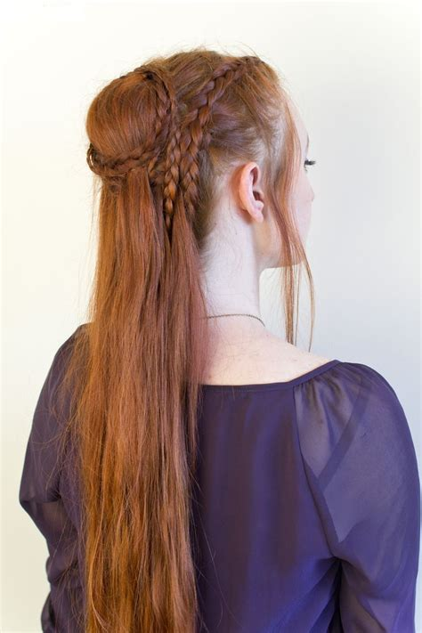 diy elven hairstyles daenerys season 5 braided updo with video tutorial by