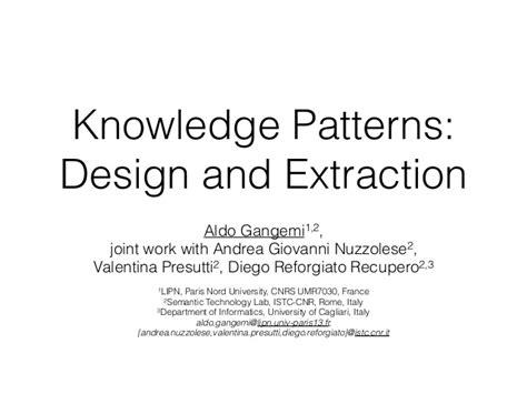 design pattern knowledge management knowledge patterns sssw2016