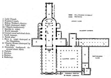 Floor Plan Of Westminster Abbey by Medieval Priory Of St Bartholomew The Great General Images