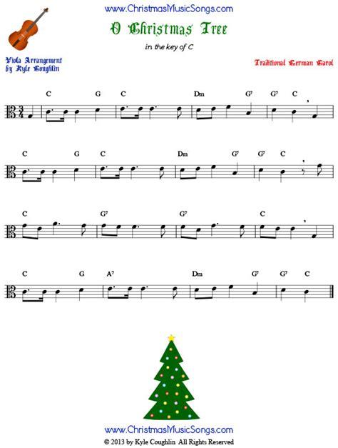 o christmas tree for viola free sheet music