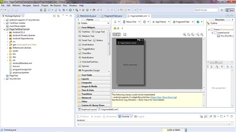 layoutinflater xml how to use recyclerview in android eclipse stack overflow