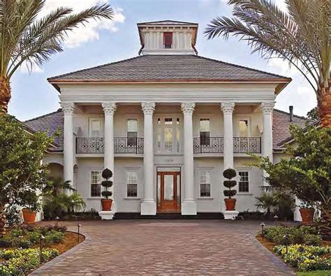 house with columns exterior windows