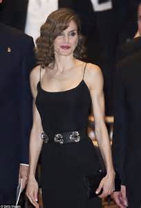queen letizia of spain vamps it up at a concert daily