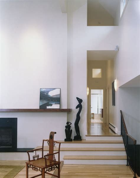 Living Room With Stairs by Living Room Stairs Modern Living Room Boston By Hp