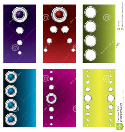 ensemble template card rings buttons business card set stock images image