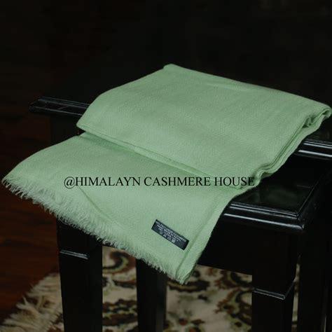 Pashmina Light Sea Green light green ring pashmina shawl himalayan