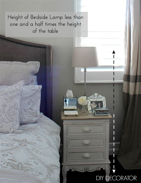 Height Of Nightstand by What Is The Right Bedside L Height Diy Decorator