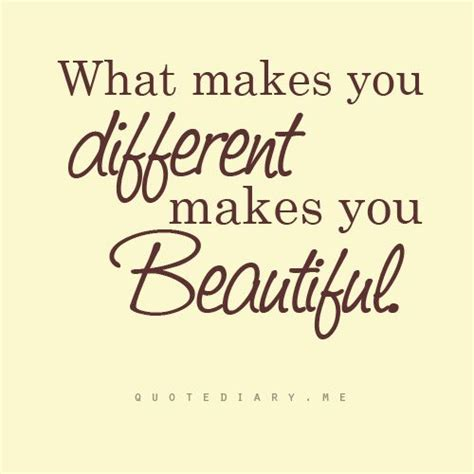 Different Is Beautiful quot what makes you different makes you beautiful quot focus
