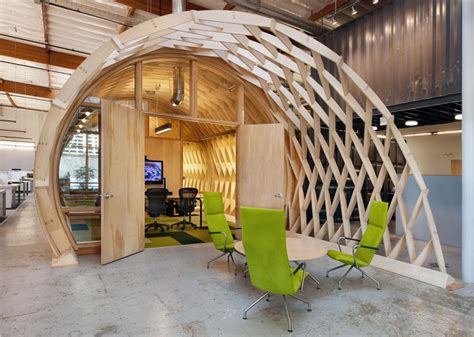 sustainable interior design products contemporary office space in california blends creativity