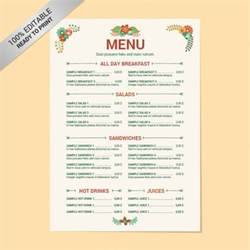 8 menu layout templates free psd eps format download