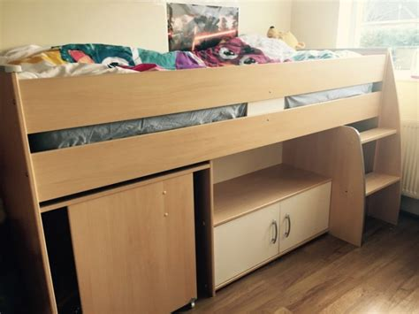 single bunk bed with desk bunk single bed with a desk and shelf for sale in naas