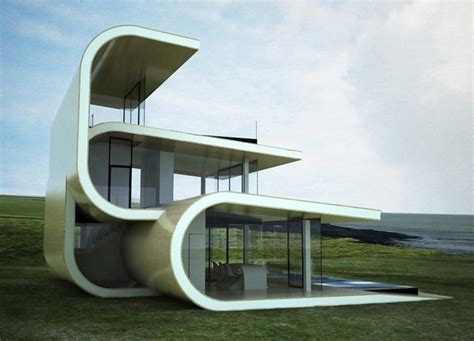 creative architecture futuristic building designed to mimic ocean waves my