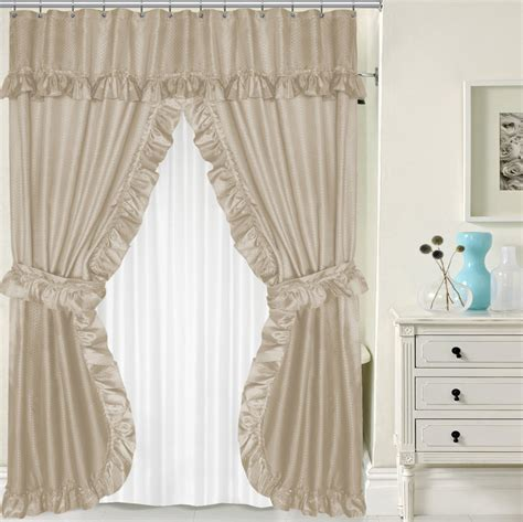 shower curtain matching window curtain set curtain awesome double swag shower curtain cool double