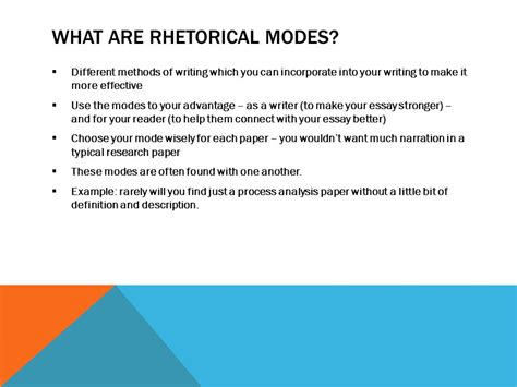 theme rhetorical definition rhetorical modes ppt download