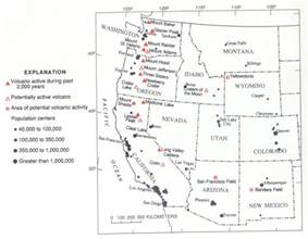 volcanoes in united states map volcanoes in the united states