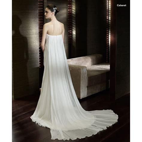 strapless empire waist watteau wedding dress wedding dresses