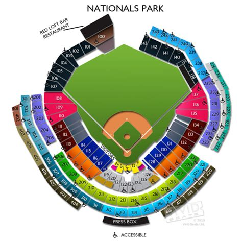 nationals park seating view nationals park tickets and seating chart
