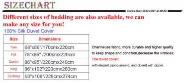 duvet cover size chart 100 silk bedding duvet cover 1 pc king cal