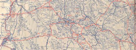 us road map arizona historic u s highway 70 through arizona on vintage postcards
