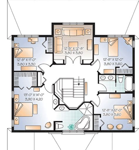 Home Design For Extended Family Multi Generational House Plan 21767dr 1st Floor Master
