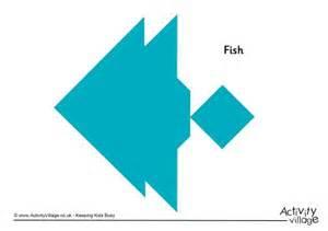 tangram pattern fish