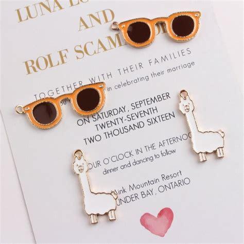 10pcs lot zinc alloy drop alpaca glasses enamel pendants charms for necklaces bracelet