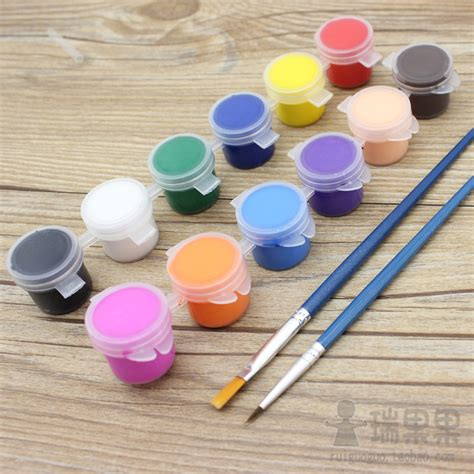 acrylic painting material acrylic paint 5 ml acrylic painting pigments painted