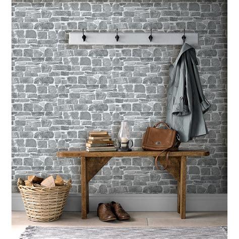 broken brick wallpaper grey wallpaper bm