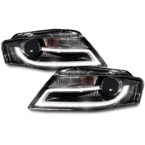 Audi A4 B8 Scheinwerfer realdrl led tagfahrlicht scheinwerfer schwarz f 252 r audi a4