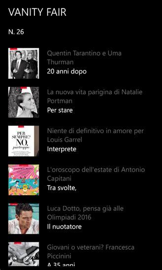 Vanity Fair Stores by Vanity Fair Italia L App Ufficiale Popolare Magazine Arriva Sul Windows Phone Store