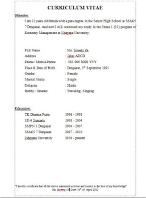 Resume Cv Dalam Bahasa Inggris Kumpulan Kumpulan Tambahan Ilmu Dari Oi O Eeh Contoh Cv Curriculum Vitae Alias Daftar