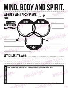 wellness plan template mind spirit weekly wellness plan downloadable goal