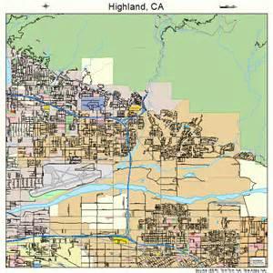 highland california map 0633588