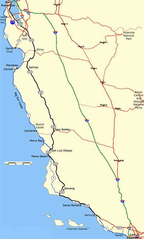 highway 101 maps california