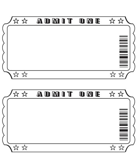 Blank Event Ticket Template blank ticket pinteres